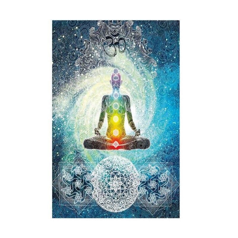 Buddha Tapestry Wall Hangings aliexpress : buy tree indian buddha wall hanging tapestry yoga