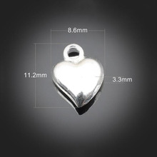 300pcs Antique Silver LOve Charms Pendant - Jewelry Accessories Findings For Necklace Bracelet Metal Fashion Bag 11.2X8.6X3.3mm