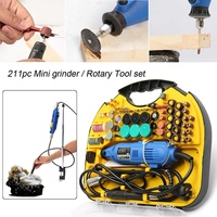 220V Power Tools Electric Mini Drill With Grinding Accessories Set Multifunction Mini Engraving Pen For Dremel tools