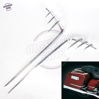 Chrome ABS Motorcycle Saddlebag Lid Accents case for 1993 2013 Harley Touring with Hard Bags 8646