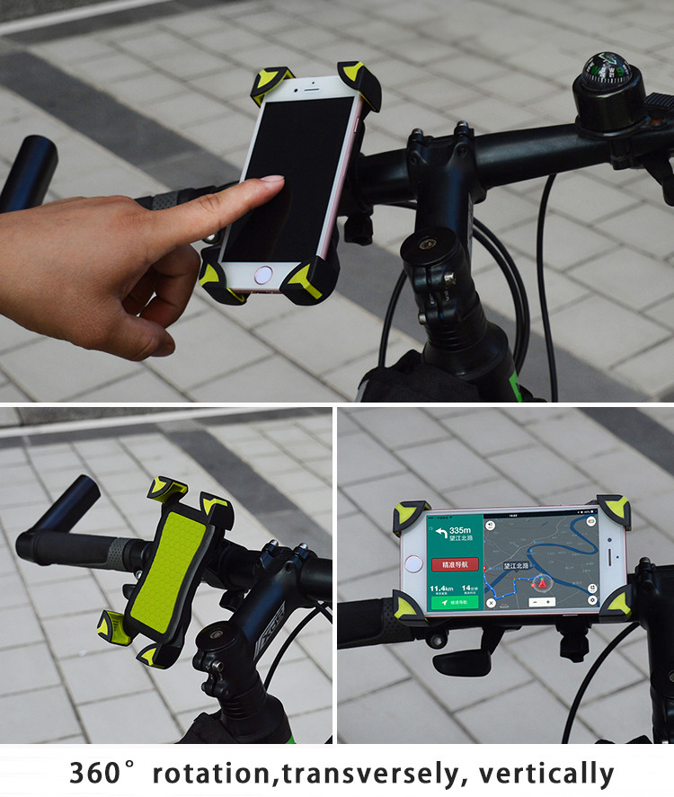 wholesale 50pcs Universal 360 Rotating Bicycle Bike Phone Holder Handlebar Clip Stand Mount Bracket For Smart Mobile Cellphone