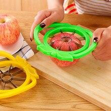 Nuevo cortador de manzanas de fruta original con forma de hoja de acero inoxidable cortador de ensalada de patatas fritas uniforme suministros de cocina prácticos de Color aleatorio
