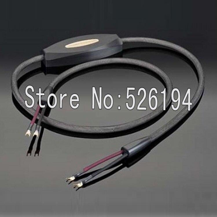 O envio gratuito de 3 meter/pair musicwave transparente ultra audio speaker cable com banhado a Ouro pá Y