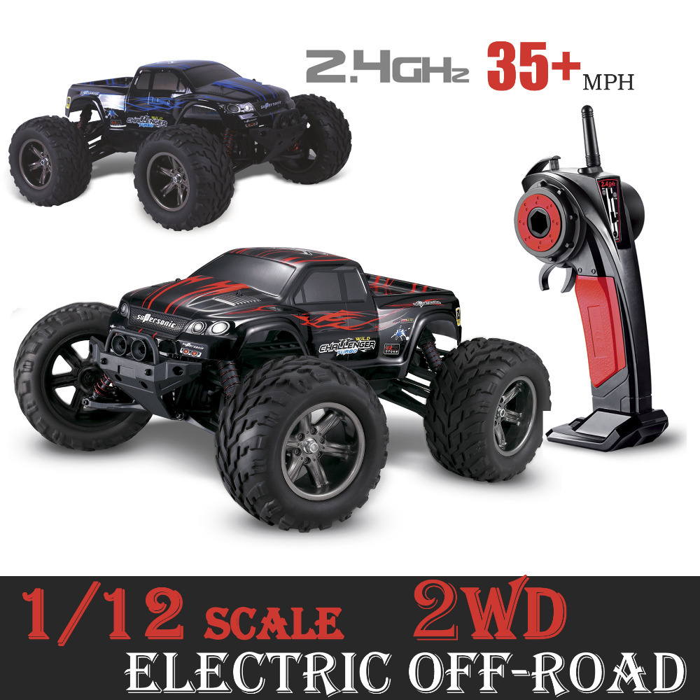 <font><b>GPTOYS</b></font> RC Car <font><b>S911</b></font> Off- road Car 1 / 12 Scale Supersonic Explorer Monster 2.4G Car with 2 - Wheel Driven Electric Racing Truggy image