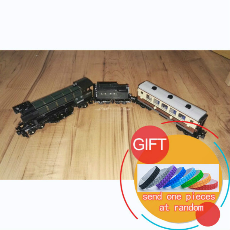 21005 1085Pcs Technical Series Emerald Night Train set Model Building Kit Brick Compatible with 10194 toys lepin 2016 new lepin 21005 creator series the emerald night model building blocks set classic compatible legoed steam trains toys