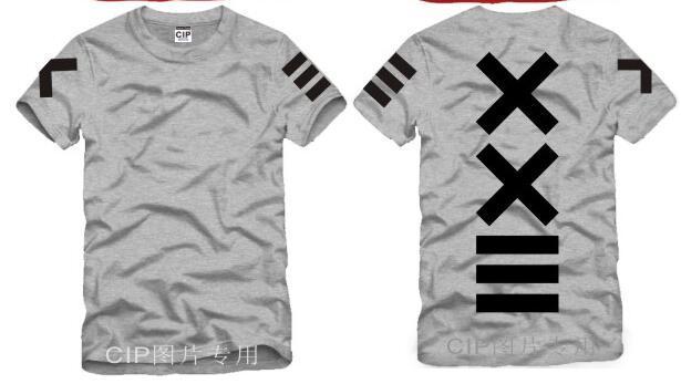 Japanese XXlll street hip hop HBA Tide Printed Mens T Shirt  Fashion 2016 New Short Sleeve O Neck Cotton T-shirt Tee 4