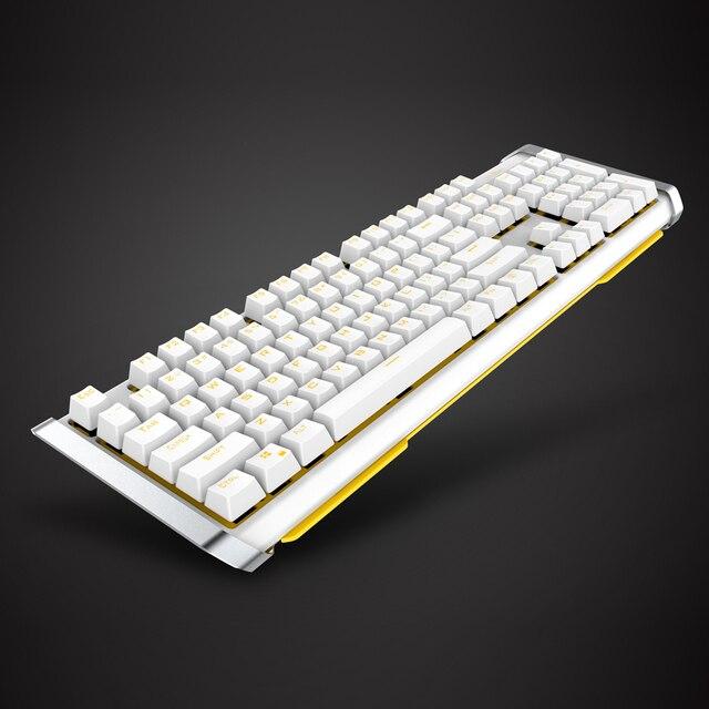 James Donkey Ergonomic USB Wired Gaming Keyboard 104 Keys Anti-ghosting Mechanical Gaming Keyboard Backlit for PC Laptop Gamer