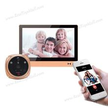Iphone Android APP Digital GSM WIFI Peephole Viewer Touch Color Monitor+2.0MP CMOS Camera Night Vision Motion Detection