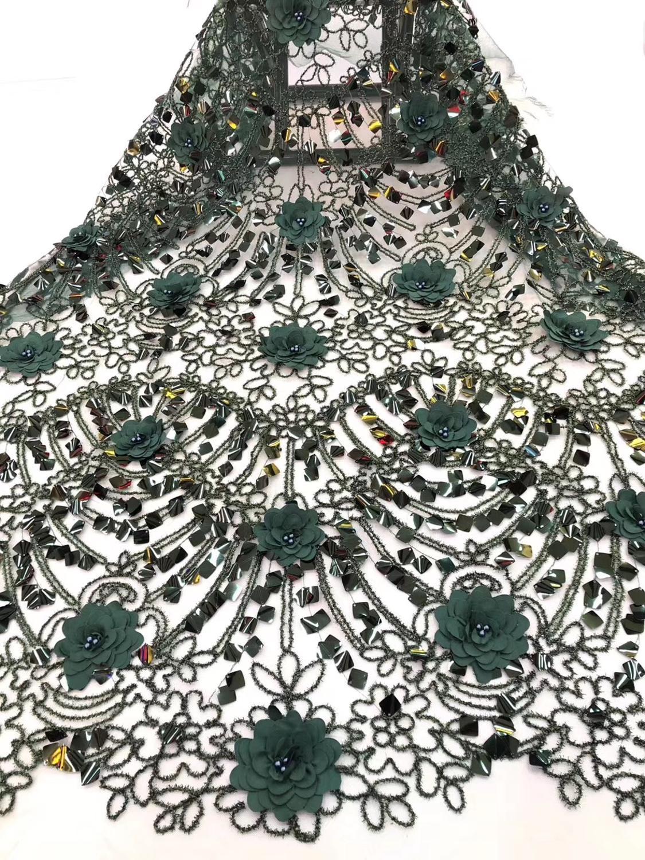 Черный лист высокого качества 2018 кружевная ткань в африканском стиле с блестками африканские платья цвета красного вина кружевная ткань дл...