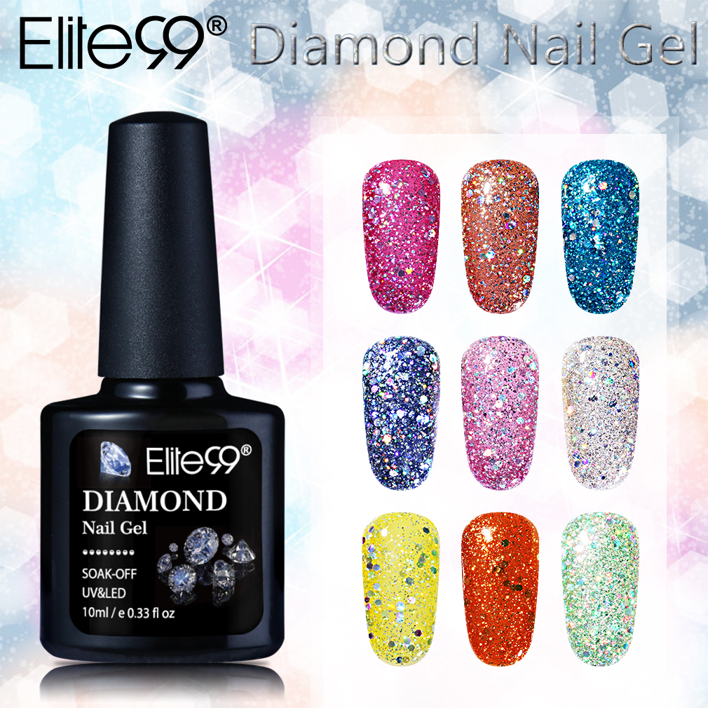 Elite99 Nieuwe Collectie 10 ml Diamant Glitter Pailletten UV Gel ...