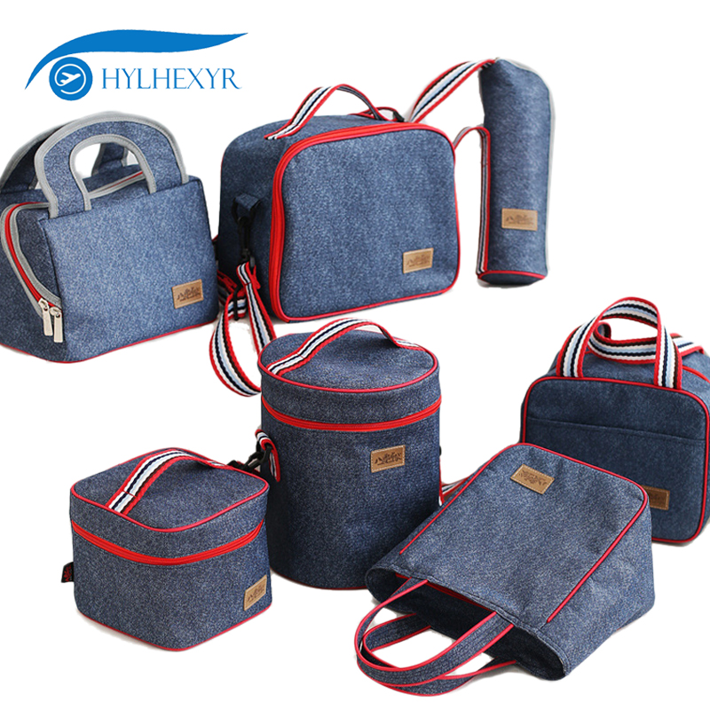 Hylhexyr Oxford Insulated Lunch Bags Durable Portable Bento Bag Thermal Lunch Tote Lunch Box Cooler Bag For Work School Picnic