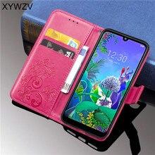 Per LG Q60 Cassa Molle Del Silicone Filp del Supporto di Carta Della Cassa Del Sacchetto Del Telefono Del Raccoglitore di Lusso Antiurto Fundas Per LG Q60 Posteriore copertura Per LG Q60