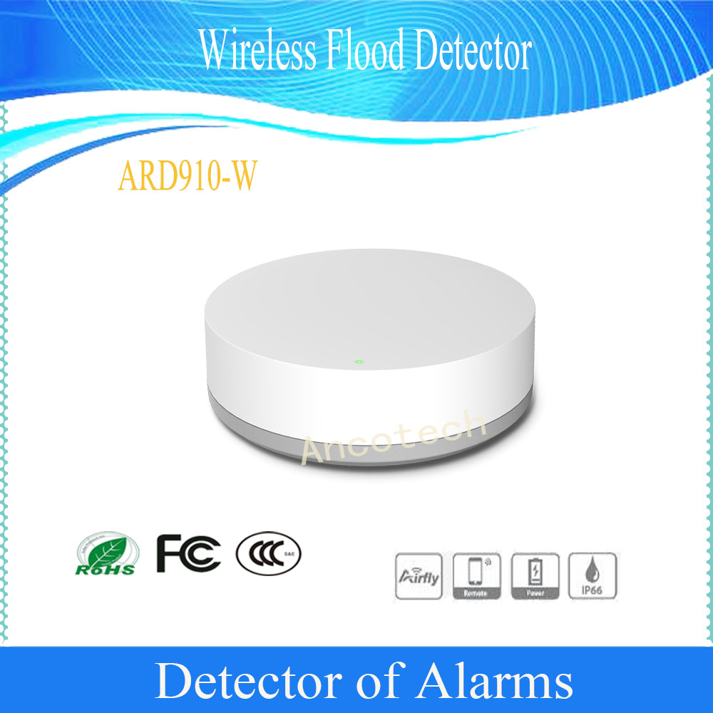Free Shipping Original DAHUA Alarm Detector For Home Security Alarm System Wireless Flood Detector Without Logo ARD910-W anti lost door alarm home security high sensitive alarm detector vibration alarm device electric aaa dry battery free shipping