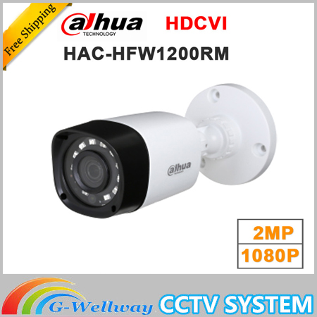 Wholesale dahua HAC-HFW1200RM 1MP HDCVI IR Bullet Camera Smart IP67 1080P 2MP HD CCTV Lite Series DH-HAC-HFW1200RM dahua hdcvi 1080p bullet camera 1 2 72megapixel cmos 1080p ir 80m ip67 hac hfw1200d security camera dh hac hfw1200d camera