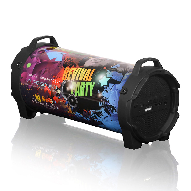 8W New Outdoor Portable Subwoofer Column Bluetooth Speaker Wireless Powerful Sports Speakers Radio FM Mp3 player Scalable стоимость