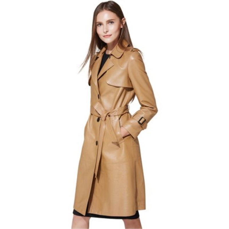 Popular Womens Leather Trench Coat Sale-Buy Cheap Womens Leather ...