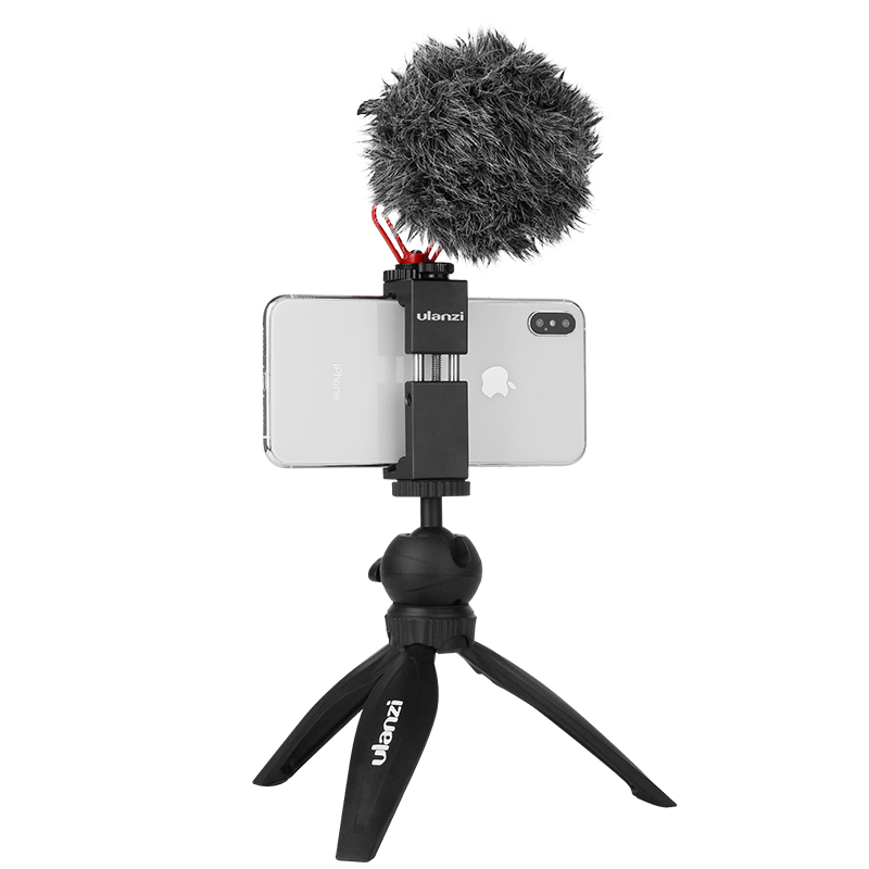 ULANZI Smartphone Vlogging Kit Camera Tripod Microphone for iPhone Mobile Phone Filmmaker Vlogger Vlog Videography RigULANZI Smartphone Vlogging Kit Camera Tripod Microphone for iPhone Mobile Phone Filmmaker Vlogger Vlog Videography Rig