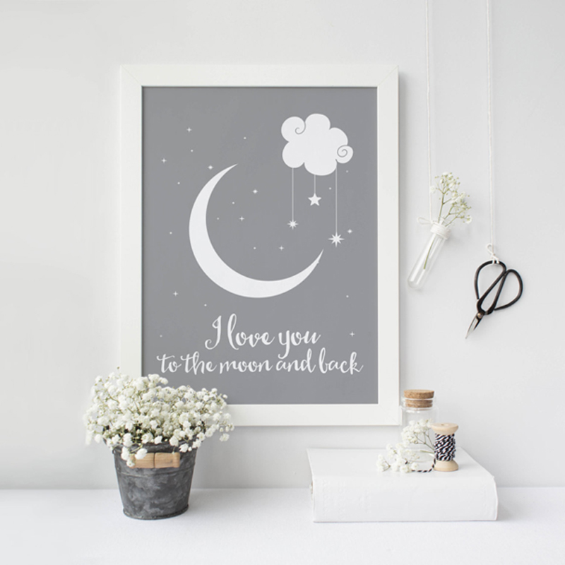 I Love You To The Moon And Back Classic Poster Canvas Paintings