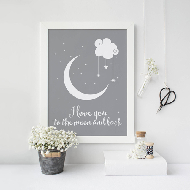 I Love You To The Moon And Back Wall Art online shop i love you to the moon and back classic poster canvas