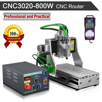 3020 800W Spindle CNC Router Engraving Machine Water cooled 220V Engraver with Wireless Pendant CNC Controller Kit