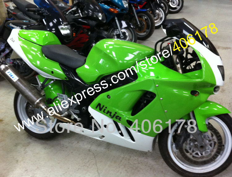 цена на Hot Sales,Full Fairing Kit For KAWASAKI NINJA ZX9R ZX 9R ZX-9R Green white 94 95 96 97 1994 1995 1996 1997 Bodywork Fairings