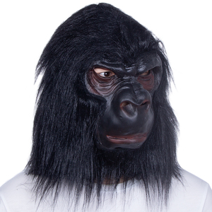 Image 5 - Halloween Latex Black Gorilla Mask Adult Full Face Funny Animal Mask Latex Halloween Party Cosplay Costume