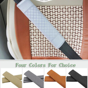 Image 2 - JLEC 1 Pcs Seat Crevice PU Car Seat Belt Padding Cover Auto Driver Shoulder Protector for BMW Seat Belt with Four Colors