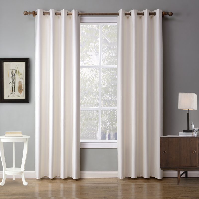 Europe And America Solid White Curtain For Bedroom