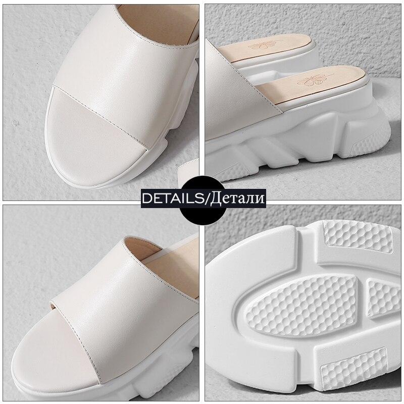 Casuales Wetkiss 2019 blanco Abierto Plataforma Calzado Mujer Vaca Negro Del Zapatos Sandalias Diapositivas Cuñas Dedo De Zapatillas Cuero Verano Pie rWzTHPqr