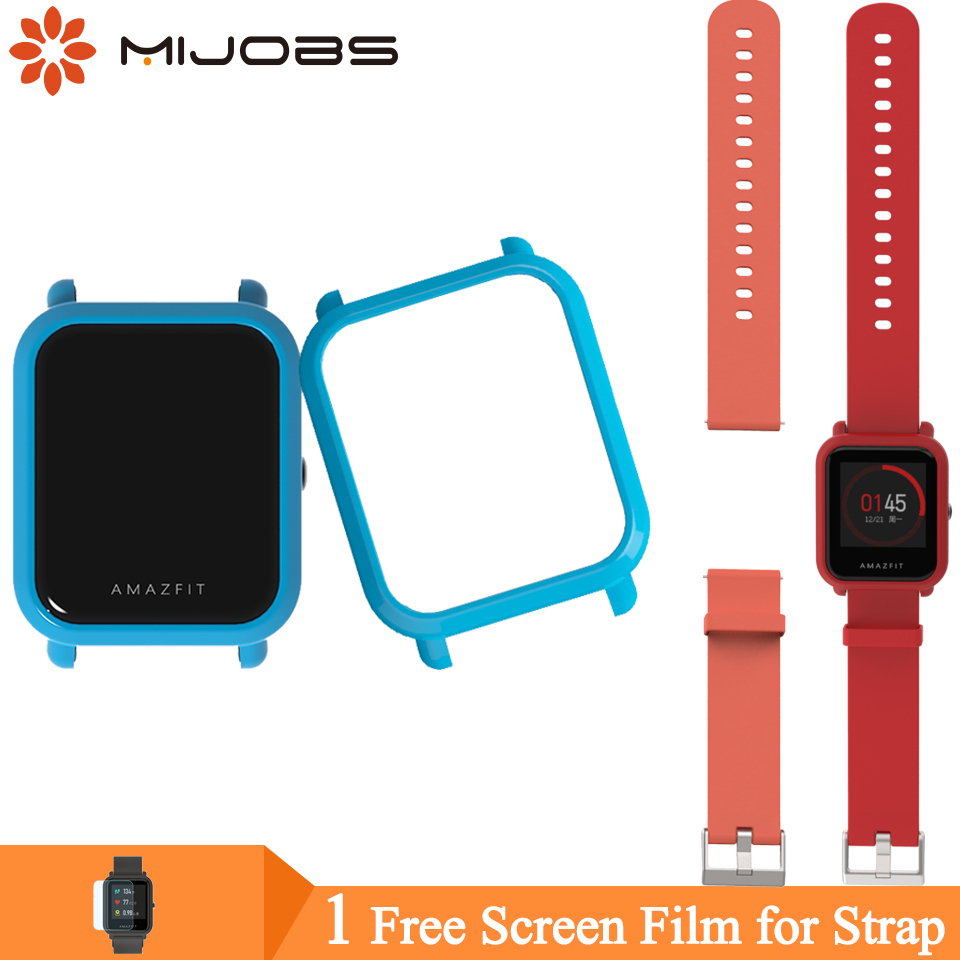 Mijobs Bracelet Protective Case Cover For Xiaomi Huami Amazfit GTS Bip Strap BIT PACE Lite Youth Watch Plastic PC Shell Bumper