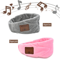 Ultra Soft Wireless Stereo Bluetooth Music Sleep Eye Mask Outdoor Travel Sleeping Aid Blindfold Cover Light Sleep Headband