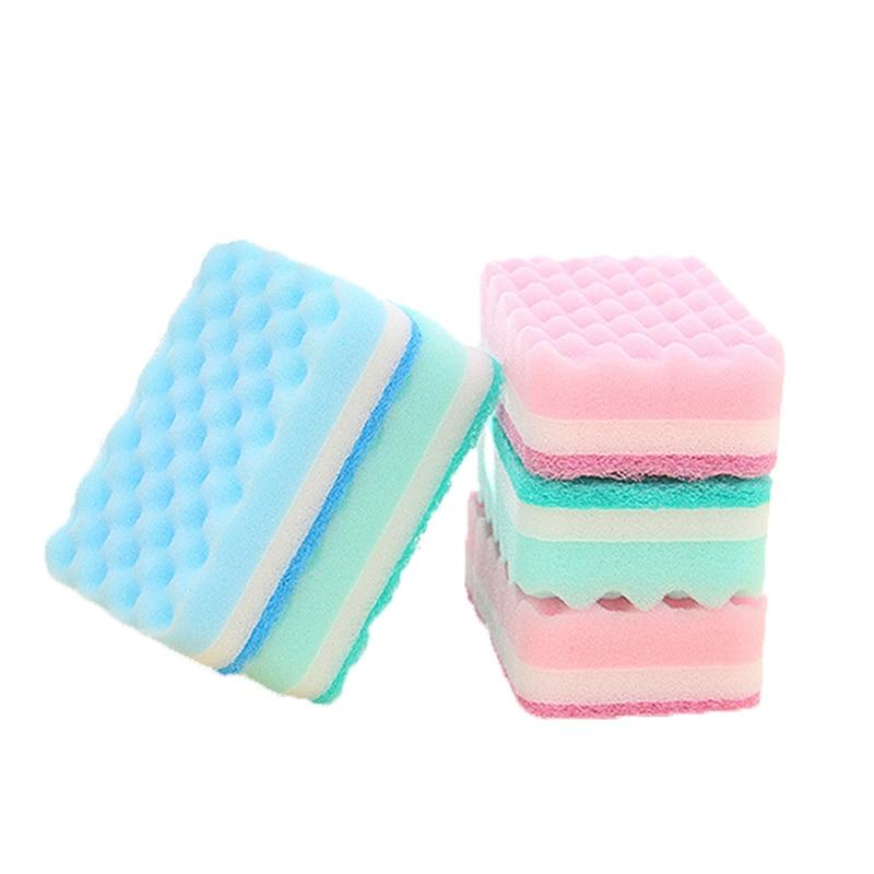 2PCS/Set Magic Sponge Clean Brush kitchen Eraser Cotton Nano Sponges Bathroom Kitchen Accessories Dish Brush Cleaning Cleaner