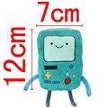 1 unids Kawaii Anime Adventure Time Beemo BMO Finn y Jake tiempo 12 * 7 cm de la felpa muñeca Brinquedos juguetes clásicos mejor juguete