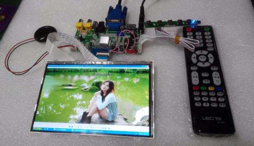 HDMI + 2AV + VGA + vue arrière carte pilote + fonction USB + capacités audio avancées + HSD070PWW1 1280*800 IPS écran LCD