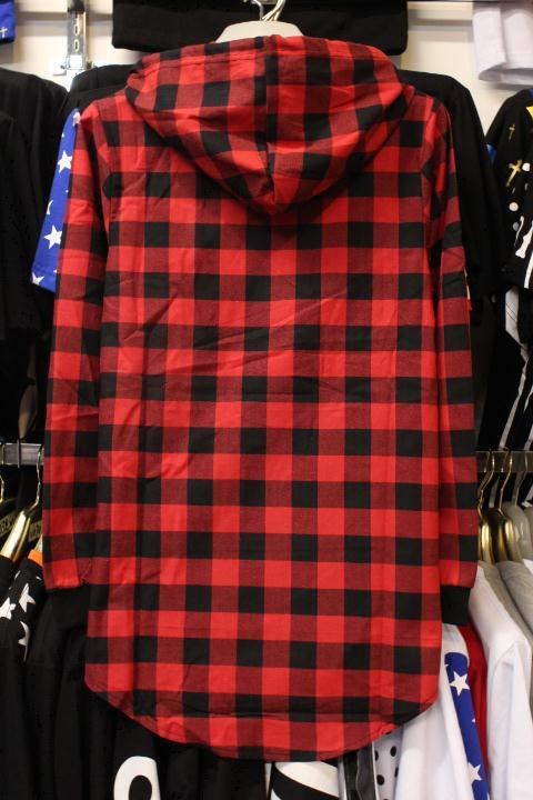 96622d3ae36 The new autumn wear men s plaid shirt with cap hooded long sleeved shirt  Man hat shirt-in Casual Shirts from Men s Clothing on Aliexpress.com