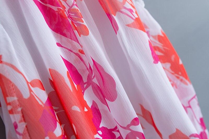 Drukowanie Baby Girl Clothes Set Kids Letnie szyfonowe bluzki + - Odzież dla niemowląt - Zdjęcie 4
