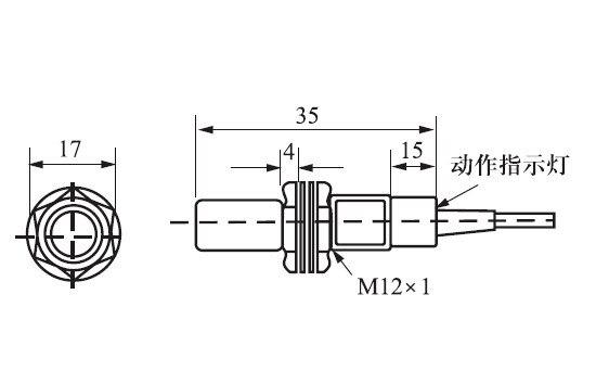 US $17.09 10% OFF|M12 Hall Effect Sensor Proximity Switch PNP NC 3 on