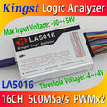 Kingst LA5016 USB Logic Analyzer 500M max sample rate,16Channels,10B samples, MCU,ARM,FPGA debug tool, English software