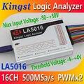 Kingst LA5016 USB логический анализатор 500 м Максимальная частота выборки, 16 каналов, 10 в образцы, MCU, ARM, FPGA инструмент для отладочной работы, английс...