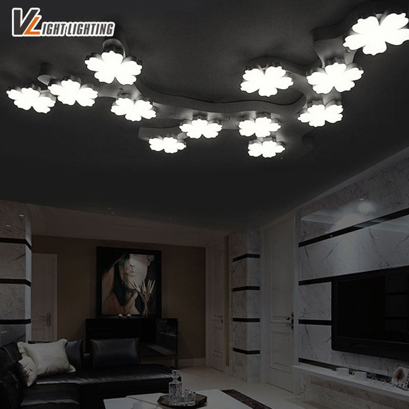 2017 Remote control living room bedroom Modern Brief Led Ceiling Lights Fixture lamparas de techo Led Ceiling Plafond Lamp