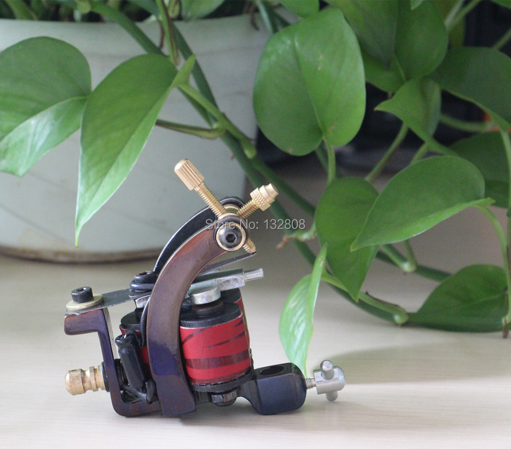 Professional Handmade Tattoo Machine 10-Wrap Coils Iron Frame Tattoo Machine Gun For Liner Shader Free Shipping TM-836 professional handmade tattoo machine 10 wrap coils iron cast frame custom tattoo gun for liner shader free shipping tm 811