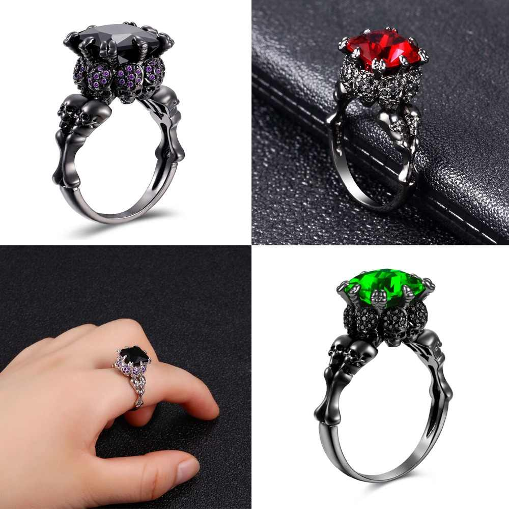 Skull Ring women Wedding Engagement Ring  Dropshipping