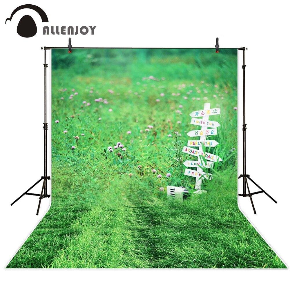 5ftx7ft Green Grass Newborn Baby Photo Studio Backdrop Photography Background Backdrop Bushes flower children custom size Photos  недорого