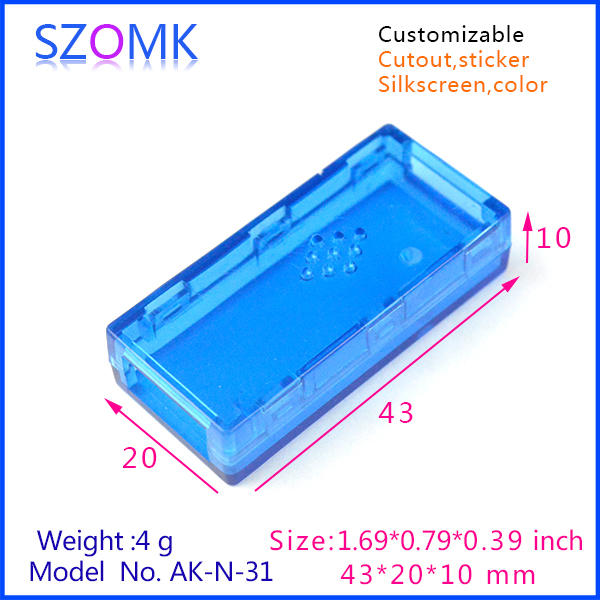 1 pc plastic usb box electronics project enclosures transparent Blue junction case USB 43x20x10mm 4pcs a lot diy plastic enclosure for electronic handheld led junction box abs housing control box waterproof case 238 134 50mm