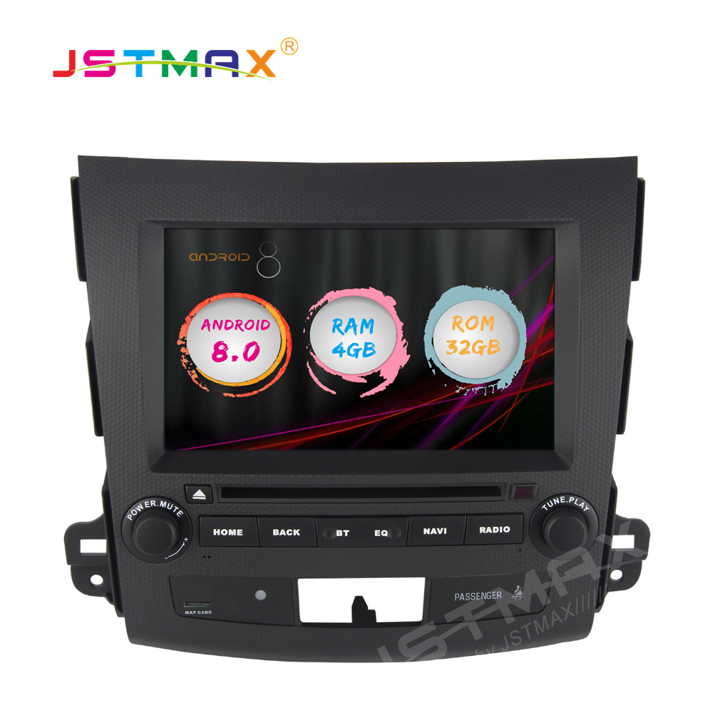 JSTMAX Android 8.0 Car GPS Radio Player for <font><b>2</b></font> <font><b>din</b></font> <font><b>Mitsubishi</b></font> <font><b>Outlander</b></font> 2007-2011 4GB+32GB Stereo Multimedia DAB+ image