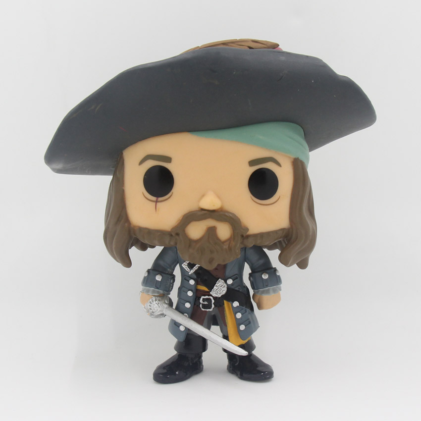 Pirates of the Caribbean Figures Toys 10cm Captain Jack Sparrow Barbossa DAVY JONES PVC Action Figures Doll PVC Model Toys