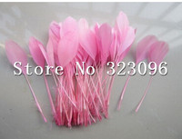 wholesale free shipping 500pcs pink feathers 15-20cm goose feather plumes for wedding hat headwear accessories craft making