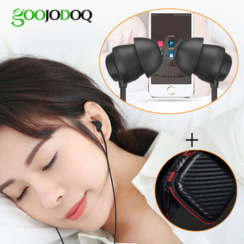 GOOJODOQ Sleep Earphone Headphones for Children Kids Student Sleeping Soft Wired Earphones 3.5mm with Microphone for Sony Phone