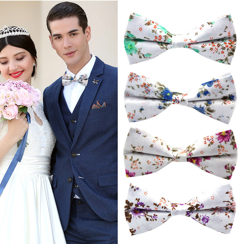 Men Bow Tie Necktie Printing Fashion Gift For Wedding Suit School Uniform Groom FS99