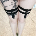 2016 New Free Shipping   Strapless Garter Harness Brace overknee Harness Bondage Fetish Rose with Heart  P0014